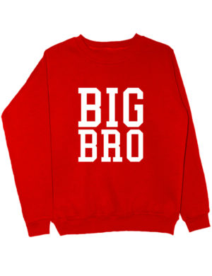 Свитшот Big Bro красный