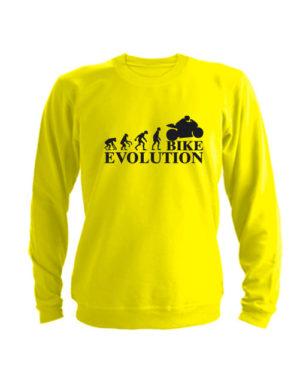 Свитшот Bike evolution желтый