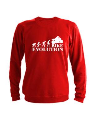 Свитшот Bike evolution красный