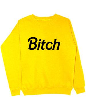 Свитшот Bitch желтый