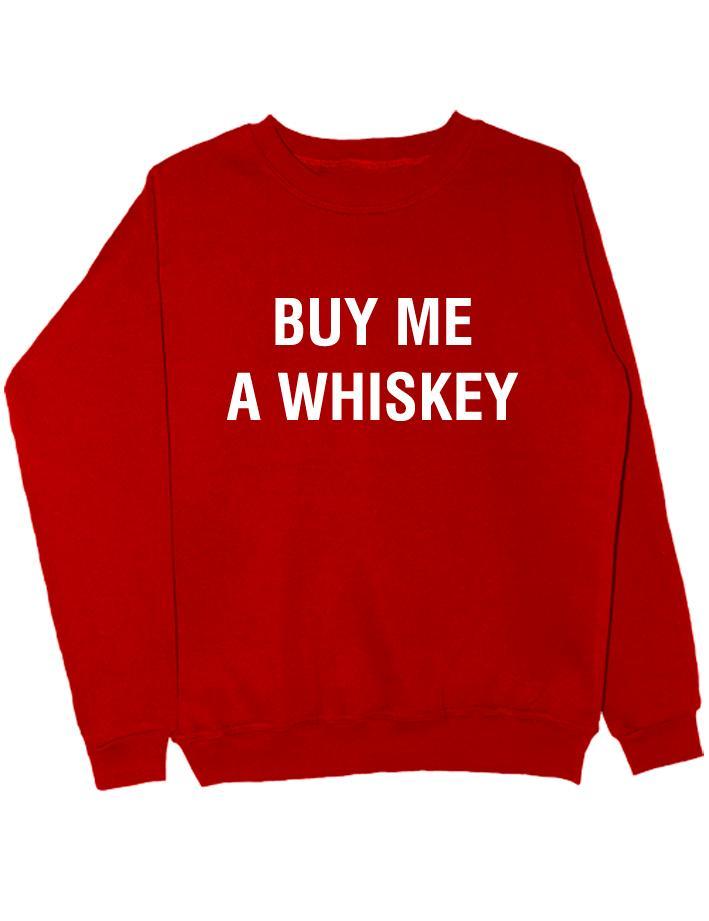 Свитшот Buy me a whiskey красный
