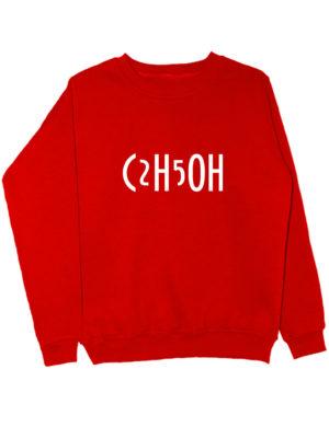 Свитшот C2H5OH красный
