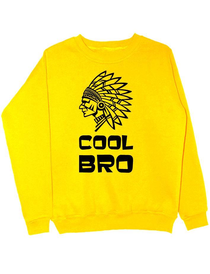 Свитшот Cool bro желтый