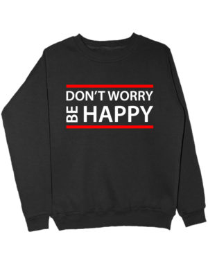 Свитшот Dont worry be happy черный