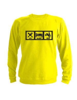 Свитшот Eat Sleep Ride желтый