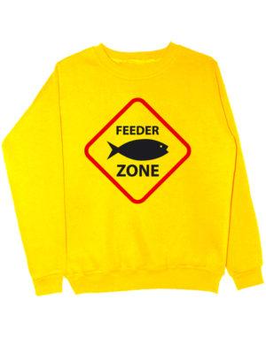 Свитшот Feeder zone желтый