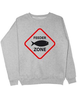 Свитшот Feeder zone серый меланж