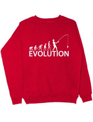 Свитшот Fishing Evolution красный