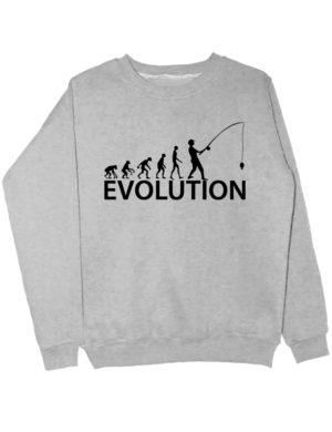 Свитшот Fishing Evolution серый