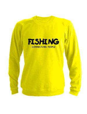 Свитшот Fishing connecting people желтый