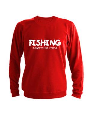 Свитшот Fishing connecting people красный