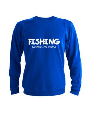 Свитшот Fishing connecting people синий