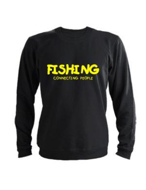 Свитшот Fishing connecting people черный