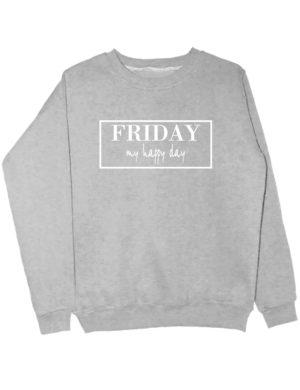 Свитшот Friday серый меланж