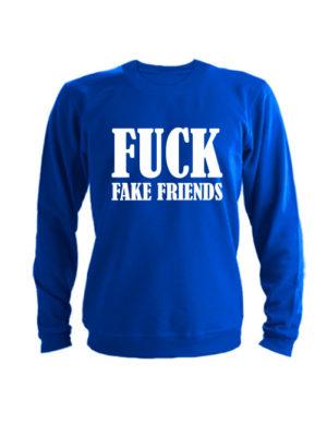 Свитшот Fuck fake friends синий