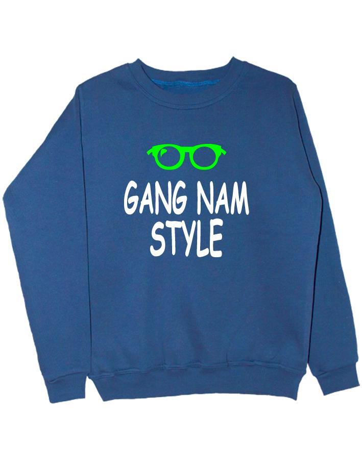 Свитшот Gangnam style индиго