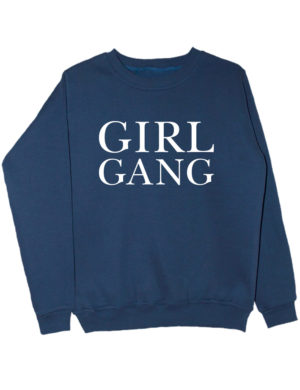 Свитшот Girl gang индиго