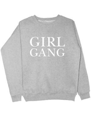 Свитшот Girl gang серый