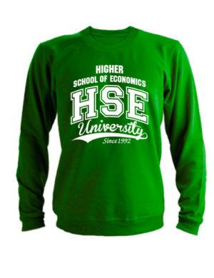 Свитшот HSE зеленый