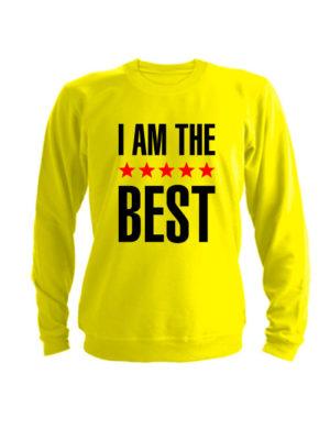 Свитшот I am the best желтый