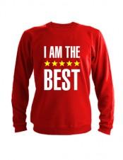 Свитшот I am the best красный