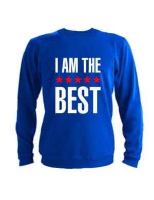 Свитшот I am the best синий