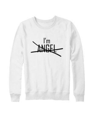 Свитшот I'm angel белый