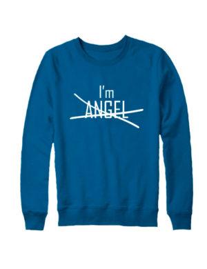 Свитшот I'm angel индиго