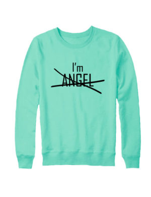Свитшот I'm angel мятный