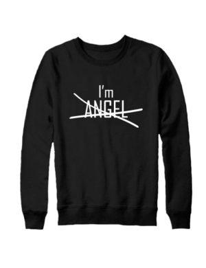 Свитшот I'm angel черный