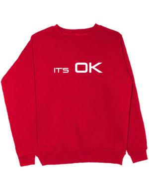 Свитшот It's OK красный