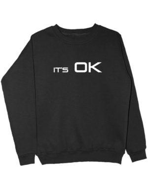 Свитшот It's OK черный