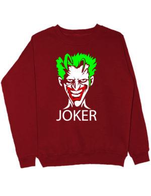 Свитшот Joker бордовый