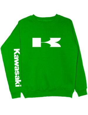 Свитшот Kawasaki зеленый