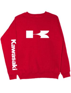 Свитшот Kawasaki красный