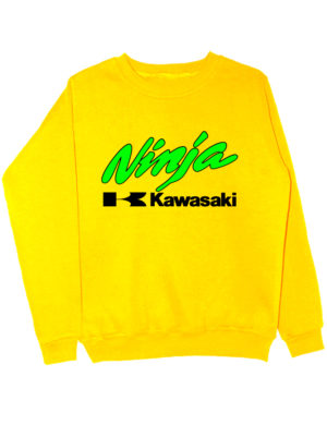Свитшот Kawasaki ninja желтый