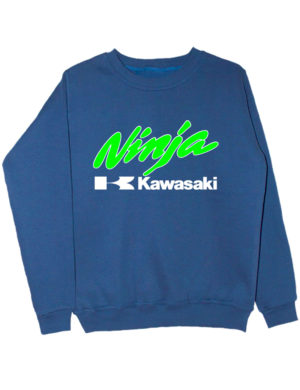 Свитшот Kawasaki ninja индиго