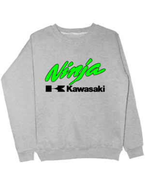 Свитшот Kawasaki ninja серый