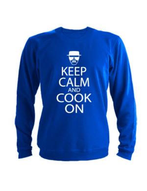 Свитшот Keep calm and cook on синий