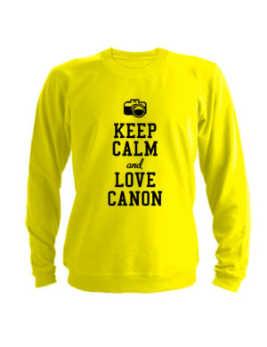 Свитшот Keep calm and go love canon желтый