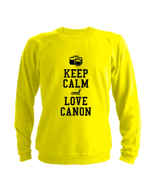Свитшот Keep calm and go love canon желтый