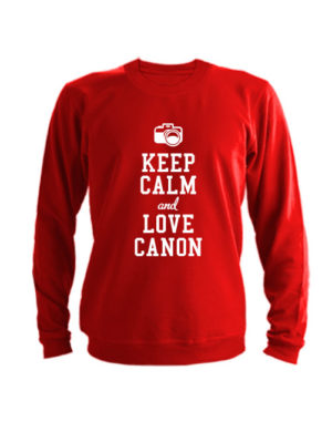 Свитшот Keep calm and go love canon красный