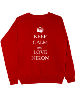 Свитшот Keep calm and love nikon красный