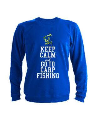 Свитшот Keep calm ang go to carp fishing синий