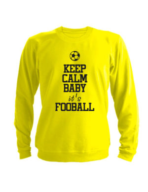 Свитшот Keep calm baby it's football желтый