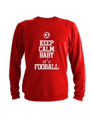 Свитшот Keep calm baby it's football красный