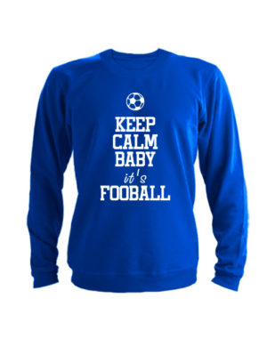 Свитшот Keep calm baby it's football синий