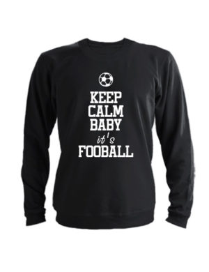 Свитшот Keep calm baby it's football черный