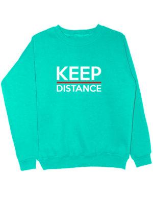 Свитшот Keep distance мятный