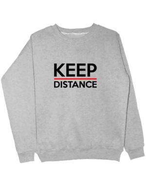 Свитшот Keep distance серый